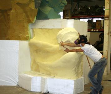 Assembling Helen Keller Sculpture