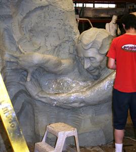 Helen Keller Clay Sculpture
