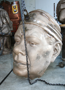 Maya Angelou Bronze Head